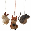 Item # 177200 - Rabbit/Fox/Mouse Christmas Ornament