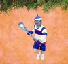 Item # 177299 - Male Lacrosse Player Christmas Ornament