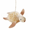 Item # 177378 - Glittered Natural Sea Turtle Ornament