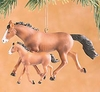 Item # 177427 - Mother Horse and Foal Christmas Ornament