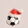Item # 177547 - Soccer Ball With Santa Hat Christmas Ornament