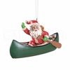 Item # 177802 - Canoe Santa Christmas Ornament