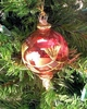 Item # 186054 - Red Etched Ball With Twisted Drop Ornament