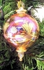 Item # 186056 - Yellow Etched Ball With Twisted Drop Ornament