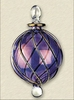 Item # 186144 - Purple Ball With Embedded Curves Ornament
