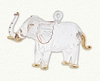 Item # 186191 - Clear/Gold Glass Elephant Ornament