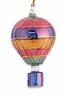 Item # 186241 - Glass Multicolor Hot Air Balloon Ornament