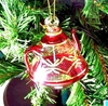 Item # 186314 - Christmas Red Wide Teapot With Gold Etching Ornament