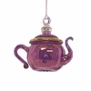 Item # 186461 - Glass Purple Small Teapot Ornament