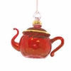 Item # 186462 - Glass Red Small Teapot Ornament