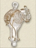 Item # 186489 - Glass Clear/Gold Elephant Ornament