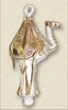 Item # 186490 - Glass Clear/Gold Camel Ornament