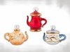 Item # 186689 - Glass Yellow/Red/Blue Teapot Ornament