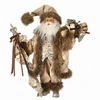 Item # 203038 - Cream Check Script Santa With Gift Bag & Staff