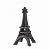 "Item # 203082 - 5"" Black/Silver Glittered Eiffel Tower Christmas Ornament"