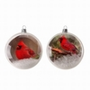 "Item # 203087 - 4"" Glass Cardinal Disc Ornament"
