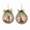 """Item # 203127 - 4"""" Glass Owl/Squirrel In Ball Christmas Ornament"""