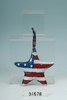"Item # 207206 - 7"" Americana Hanging Star Decoration"