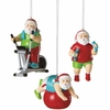 Item # 260116 - Fitness Santa Christmas Ornament
