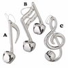 Item # 260135 - Plastic Silver Music Note Ornament