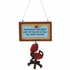 Item # 260175 - Swivel Chair Christmas Ornament