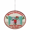 Item # 260180 - Merry Christmas Cubicle Ornament