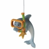 Item # 260287 - Snorkeling Dolphin Christmas Ornament