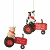Item # 260380 - Farm Tractor Christmas Ornament