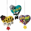 Item # 260402 - Dance Text Heart Christmas Ornament