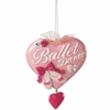 Item # 260405 - Ballet Text On Heart Christmas Ornament