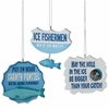 Item # 260410 - Ice Fishing Text Christmas Ornament