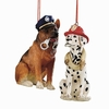 Item # 260439 - Resin Police/Fire Dog Christmas Ornament