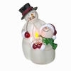 Item # 260581 - Acrylic Flickering Snowman Roasting Marshmallows Nightlight