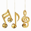 Item # 260700 - Gold Bell Music Note Ornament