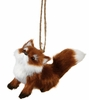 Item # 260726 - Sitting Fox Christmas Ornament