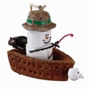 Item # 260789 - S'mores In Fishing Boat Christmas Ornament
