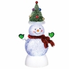 Item # 260816 - Snowman With Tree Hat Shimmer Light
