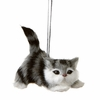 Item # 260867 - Plastic Poly Gray/White Cat Christmas Ornament