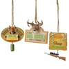 Item # 260948 - Funny Hunting Sign Christmas Ornament