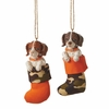 Item # 260964 - Puppy In Hunting Stocking Christmas Ornament