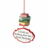 Item # 260981 - Drinking Club/Book Problem Christmas Ornament