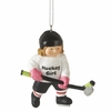 Item # 261000 - Resin Hockey Girl Christmas Ornament