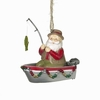 Item # 261228 - Resin Santa In Fishing Boat Christmas Ornament