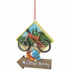 Item # 261307 - Resin Mountain Biking Christmas Ornament