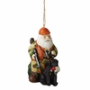 Item # 261329 - Santa Hunter With Lab Christmas Ornament