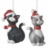 Item # 261394 - Resin Cat With Santa Hat Christmas Ornament
