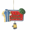 Item # 261403 - Resin I Love Biking Christmas Ornament