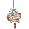 Item # 261404 - Cycling Is The Answer Christmas Ornament