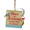 Item # 261416 - Resin Beer Fishing Christmas Ornament
