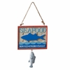 Item # 261422 - Seafood Shark Sign Christmas Ornament